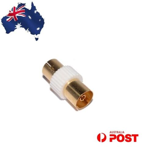 RF Coaxial Female To Female Socket TV Aerial Cable Coupler Adaptor Connector