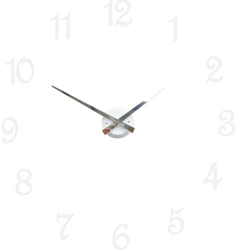 Roco Verre White Gloss Luna Hand Clock with Digits
