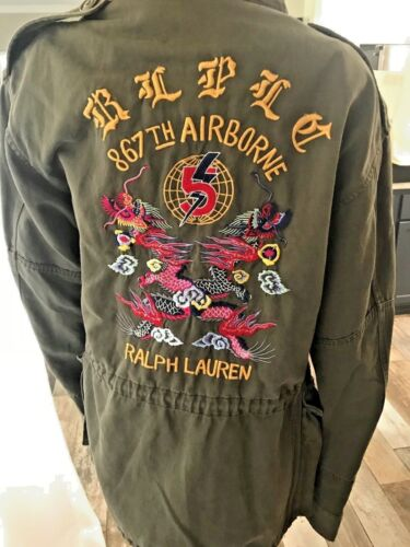 Ralph Lauren Purple Label Embroidered Military / Combat / Field Jacket Msrp 1995