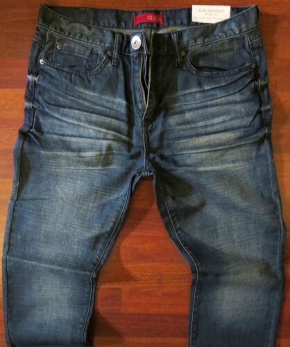Guess Slim Straight Leg Jeans Men's Size 32 X 32 Classic Distressed Wash