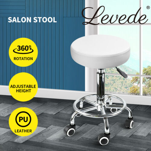 Levede Swivel Salon Bar Stools Hairdressing Stool Barber Chairs Equipment Beauty