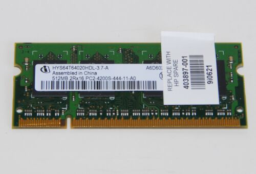 Infineon 512MB Memory PC-4200 DDR2 SO-DIMM 200 Pin RAM HYS64T64020HDL37A