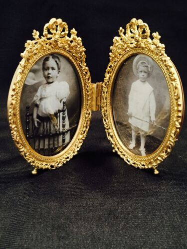 SGND.BOTH FRANCE & STERN BROS. N.Y.,FANTASTIC DORE BRONZE DOUBLE PICTURE FRAME
