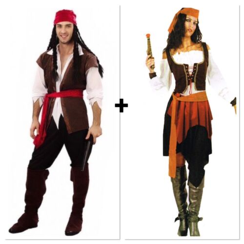 Hat F7 Ladies Treasure Pirate Caribbean Fancy Dress Up Party Costume Outfit