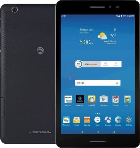 """NEW ZTE Trek 2 HD K88 Wi-Fi GSM AT&T Unlocked 8"""" Android Tablet Gray 5MP"""