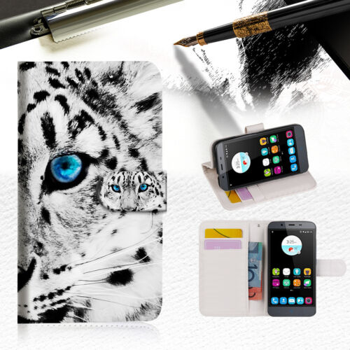 Leopard Wallet Cover For Telstra Signature 2 Phone Case -- A013