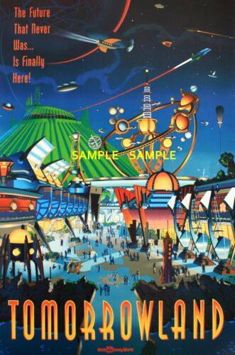 Viintage Disney  ( Tomorrowland ) Collector's Poster Print - B2G1F