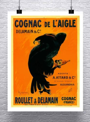 Cognac Eagle Vintage Leonetto Cappiello Poster Rolled Canvas Giclee 24x30 in.