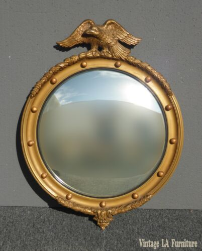 Vintage Federal Gold Eagle Convex Wall Mantle MIRROR 13 Colonies