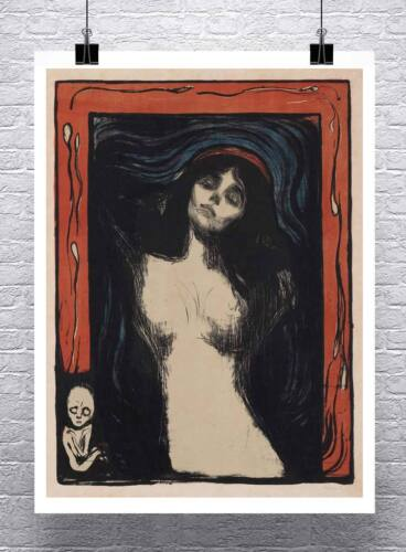 Madonna Edvard Munch Fine Art Painting Rolled Canvas Giclee Print 24x30 Inches