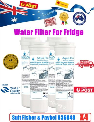 4 X Fisher Paykel 836848 Premium Compatible Ice & Water Fridge Filter - 836860