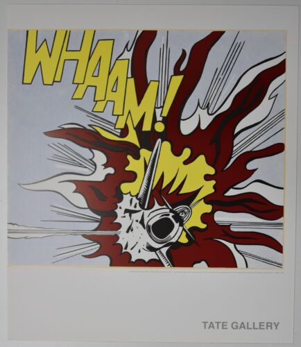 ROY LICHTENSTEIN Tate Gallery WHAAM! 1963 PANEL 2 litho poster 1996 VERY RARE