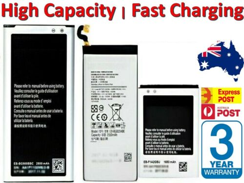High Capacity Battery for Samsung Galaxy S10 S9 S4 S5 S6 S7 S8 Note 10 9 8 Edge