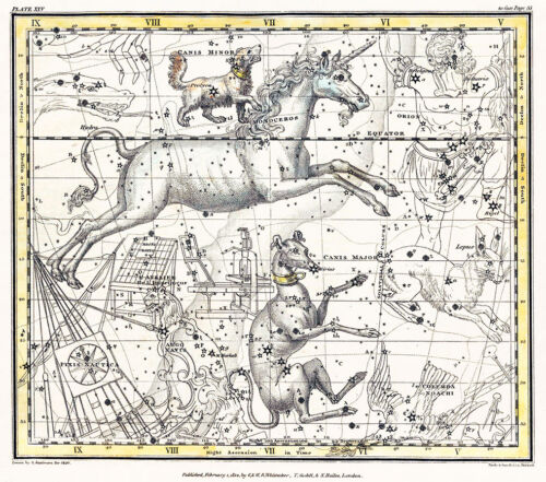 Astronomy Celestial Atlas Jamieson 1822 Plate-25 Art Paper or Canvas Print
