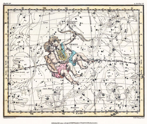Astronomy Celestial Atlas Jamieson 1822 Plate-15 Art Paper or Canvas Print