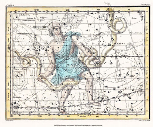 Astronomy Celestial Atlas Jamieson 1822 Plate-09 Art Paper or Canvas Print