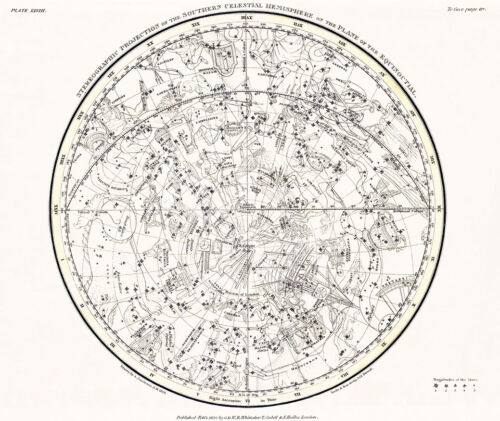 Astronomy Celestial Atlas Jamieson 1822 Plate-28 Art Paper or Canvas Print