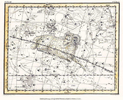 Astronomy Celestial Atlas Jamieson 1822 Plate-13 Art Paper or Canvas Print