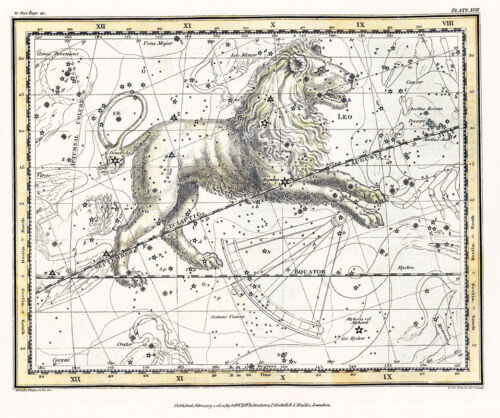 Astronomy Celestial Atlas Jamieson 1822 Plate-17 Art Paper or Canvas Print