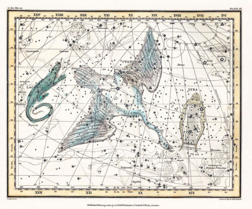 Astronomy Celestial Atlas Jamieson 1822 Plate-11 Art Paper or Canvas Print