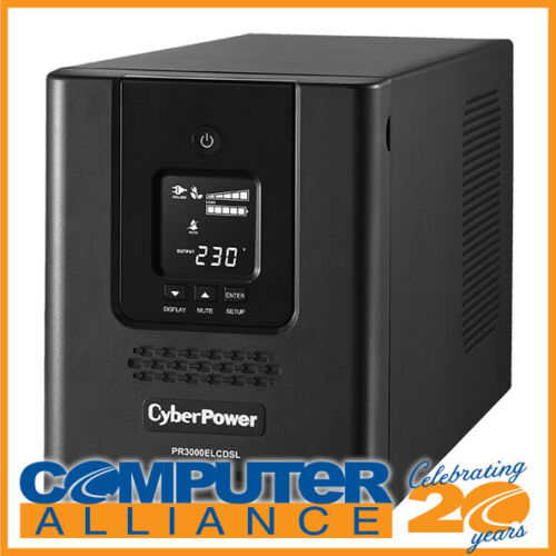 3000VA CyberPower PRO Series Tower UPS with LCD PN PR3000ELCDSL