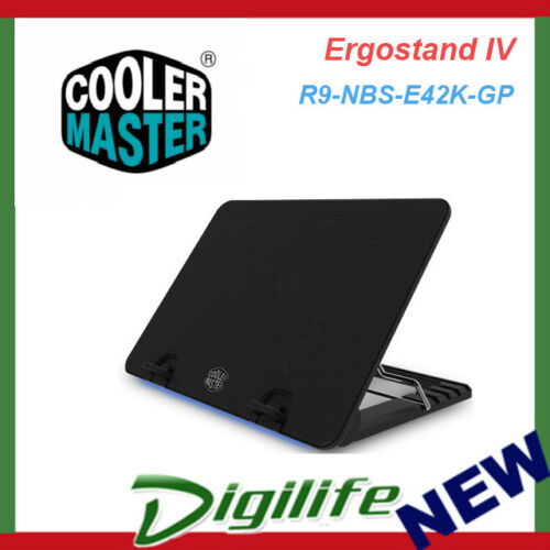 Cooler Master Ergostand IV Height Settings,140 Silent Fan, LED Strip, Up to 17