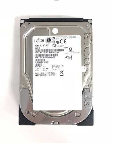 Brand New -  MBA3147RC Fujitsu 146GB 15K 3.5 SAS Hard Drive for Hot-Swap Servers