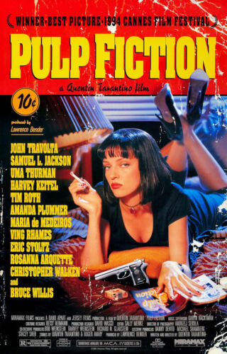 "Pulp Fiction ( 11"" x 17"" ) Time Cover Collector's Poster Print - B2G1F"