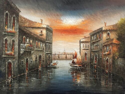 Venice Antique style #12,  36x48,100% Hand Painted Oil Painting on Canvas
