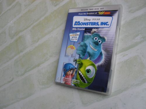 MONSTERS, INC. - BILLY CRYSTAL - REGION 4 PAL - DELUXE 2 DISC DVD