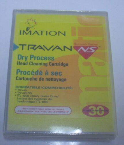 Brand New Factory Sealed Imation Travan NS Dry Process Head Cleaning Cartridge
