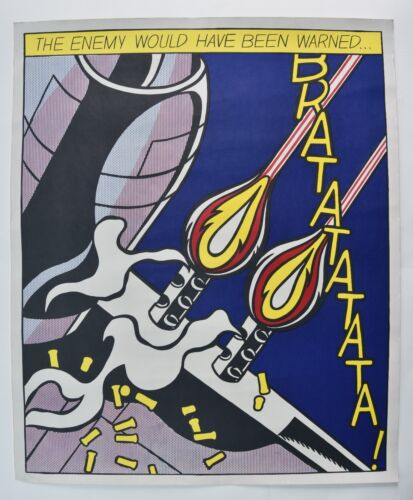 ROY LICHTENSTEIN As I Opened Fire OFFICIAL 1st ed. litho SMA Amsterdam VERY RARE