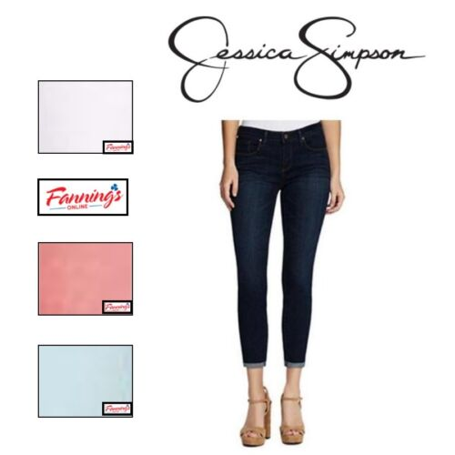 NEW! Women's JESSICA SIMPSON ROLLED CROP SKINNY Jean STRETCH SOFT SCULP -VARIETY