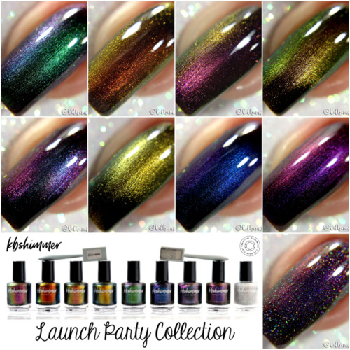 KBShimmer 2018 Launch Party Multichrome/Duochrome Collection Magnetic Polishes!