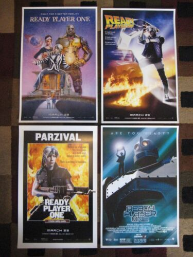 "Ready Player One ( 11"" x 17"" ) Movie Collector's - Poster  Prints (  Set of 4 )"