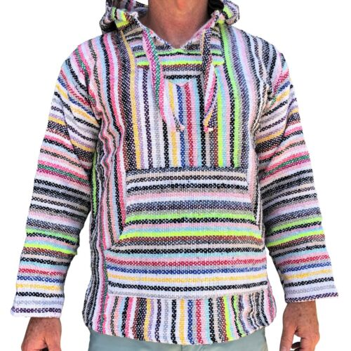 New Genuine Mexican Baja Hoodie Surfer Fashion Made Mexico - Choose size, colour