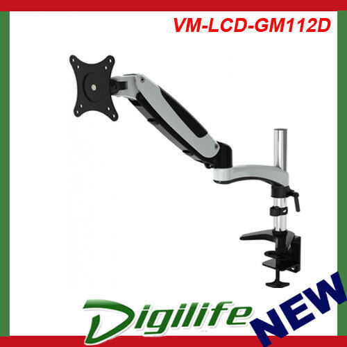 VisionMount GasSpring DeskClamp Aluminium Single LCD Monitor Arm support up 27