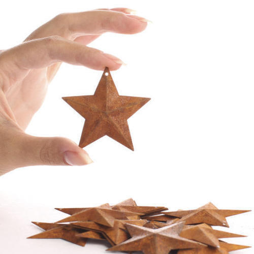 """100 Rusty Barn Stars 2.25 in 2 1/4"""" Primitive Country Rusted Crafts Americana"""
