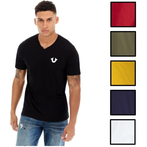 True Religion Men's Classic Horseshoe Logo V-Neck Tee T-Shirt