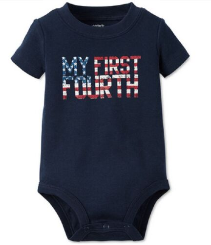 Carter's Baby Boys' My First Fourth Bodysuit, Navy, Size 6 Months