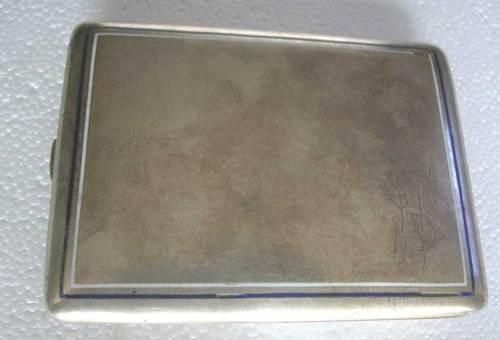 AUSTRO HUNGARIAN ENAMELED SOLID SILVER CIGARETTE CASE