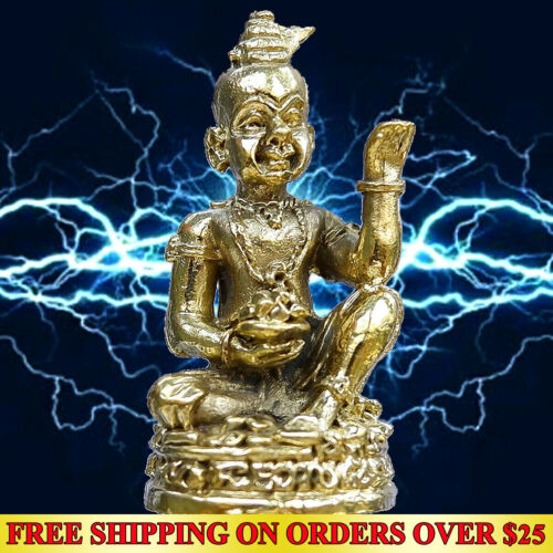 Lucky Phayanak Naga Snake Serpent Thai Amulet Statue Wealth Magic Holy Talisman