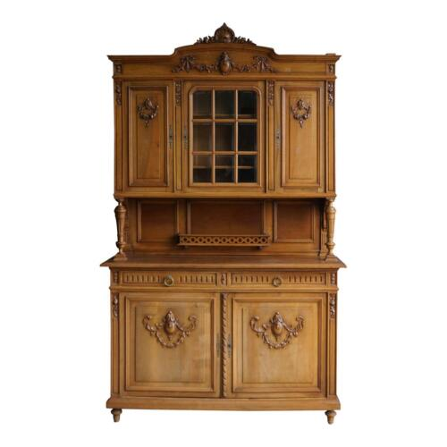 Antique French Hutch ~ China Cabinet ~ French Vaisselier ~ French Huntboard