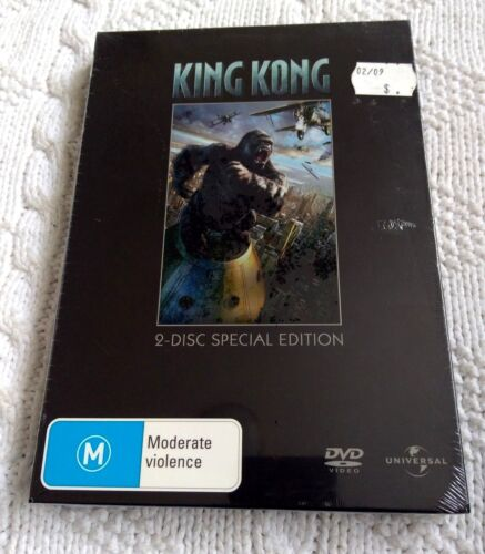 KING KONG – DVD, 2-DISC SPECIAL EDITION BOX SET, R-2+4+5, NEW, FREE POSTAGE