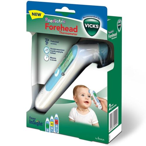 Vicks Digital Forehead Thermometer with Fever InSight for Baby/Children & Adults