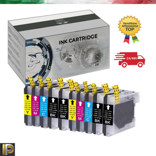 10 Cartucce Compatibili Brother Mfc-250c 5490cn Mfc5890 Dcp145 Dcp165 185 197c