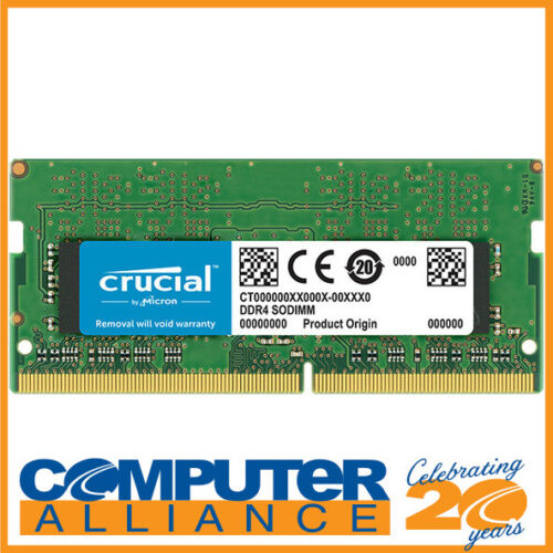 SODIMM 8GB DDR4 (1x8G) Crucial 2400MHz RAM for Notebooks PN CT8G4SFS824A