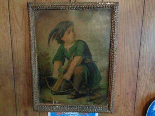 Vintage Tramp Art Picture Frame