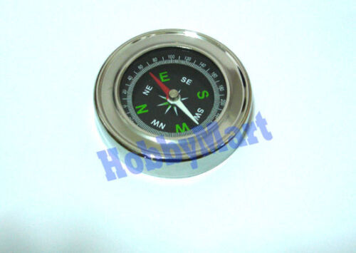Metal Compass 60mm for Outdoor Camping, hiking, science experiments x 1