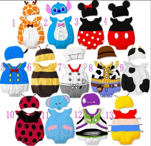 Baby Boy Girl Animal Costume Bodysuit Outfit Romper Clothes Set size 3-12 months